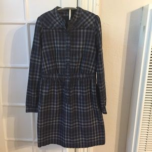 sessun Dresses - Sessun plaid Madewell navy blue dress M